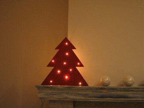 ... hebben we ook een groene versie gemaakt, dit keer met 18 lampjes